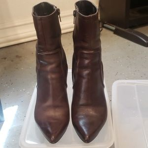 Nine West Shoes - Brown Leather Boots